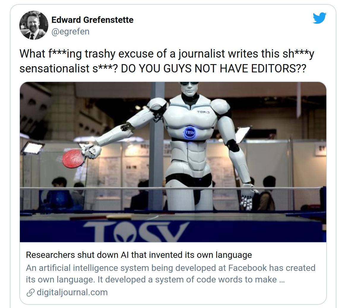 The Crazy Coverage of Facebook's Unremarkable 'AI Invented Language'