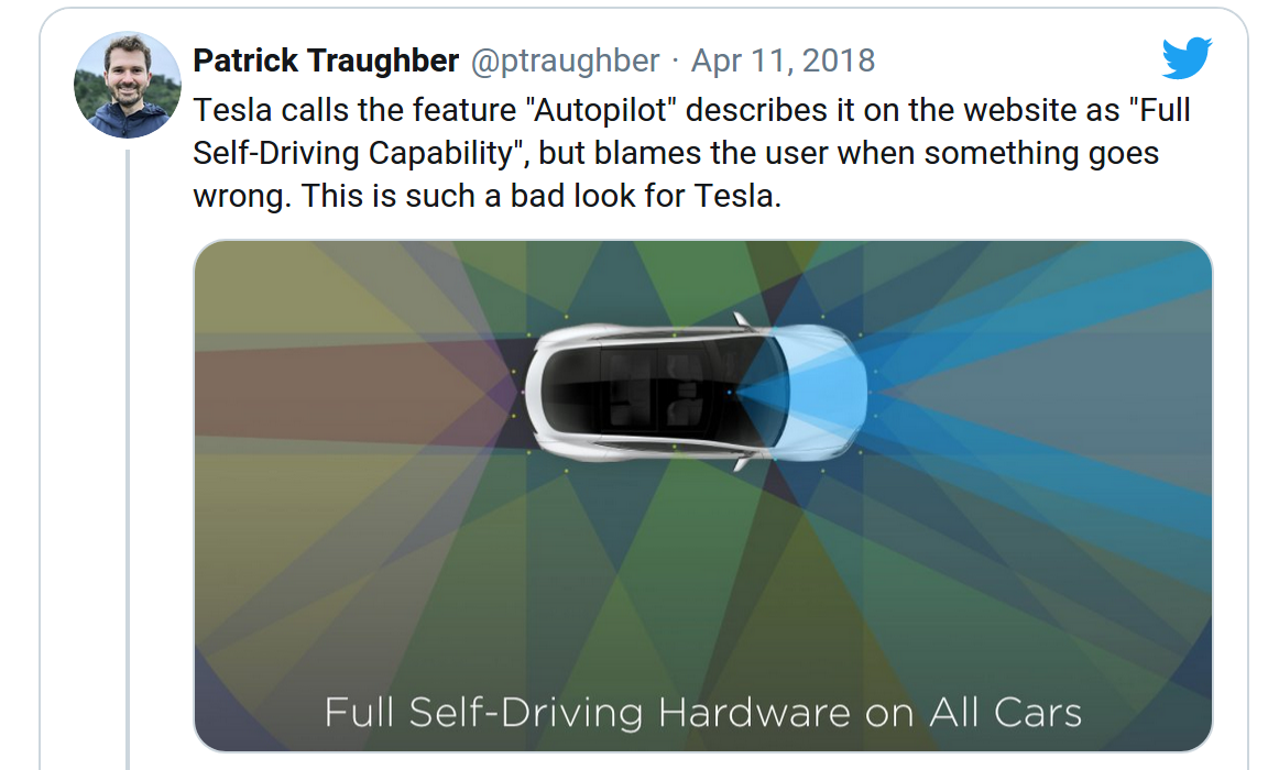 Tesla's Lethal Autopilot Crash — A Failing of UI as Much as AI