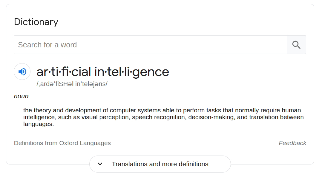 Please Stop Saying 'An AI'