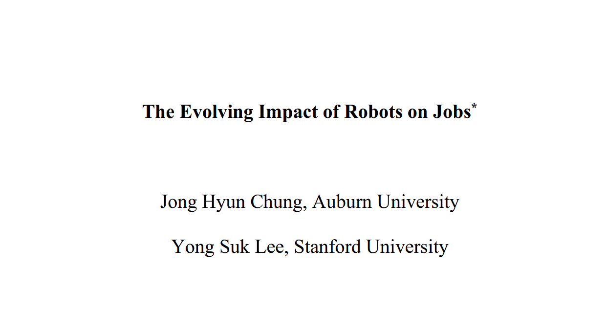 The Evolving Impact of Robots on Jobs